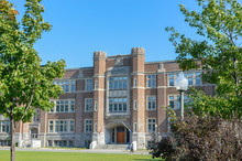 Westmount Park Elementary School Building. Exterior View Of School.