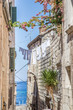 Narrow street in Croatia