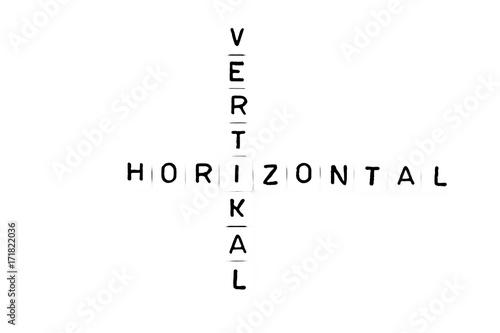 Horizontal und vertikal