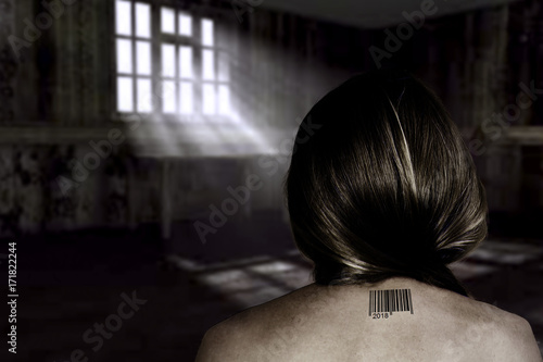 Fotomural Concept of human trafficking