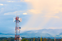 Telecommunication Tower With M...