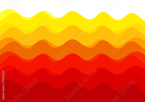 Foto auf Leinwand Rot background abstract wave