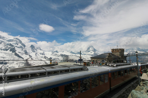 Foto op Canvas Stadion Beautiful mountain landscape with views of the Matterhorn Switzerland.