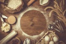 Baking Ingredients In Measurin...