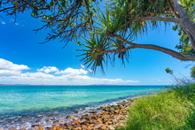 Beautiful Day With Blue Sky On The Coastline Of Noosa National Park, Noosa, Queensland, Australia.