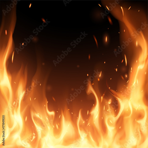 Photo  Flame background