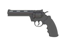 Beside View Of Black Revolver ...