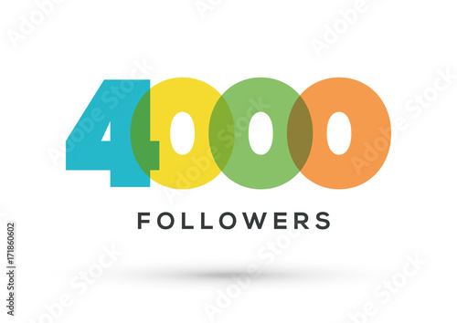 Fotografie, Obraz  Acknowledgment 4000 Followers