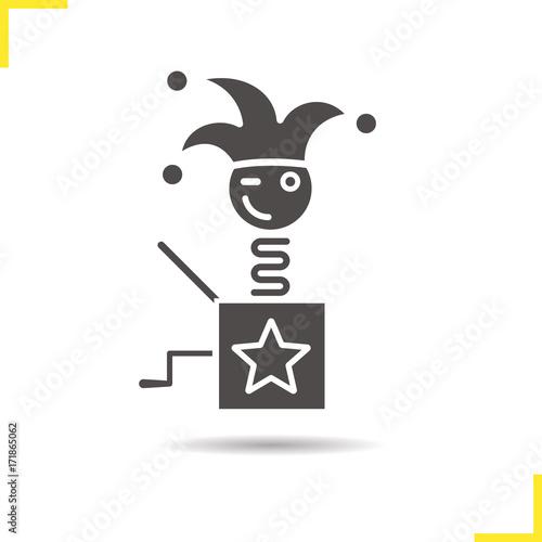 Fotografia, Obraz Jack in the box glyph icon