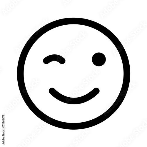 winking eye smiley clip art vector illustration buy this stock rh stock adobe com Closed Eyes Clip Art Closed Eyes Clip Art