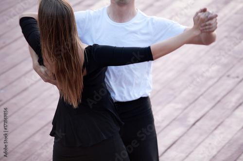 Leinwand Poster Couple dancing waltz or tango