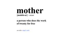 Mother Definition (Vector Illustration Design Concept Mother's Day)