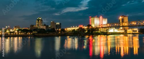 Shreveport Louisiana Skyline Wallpaper Mural