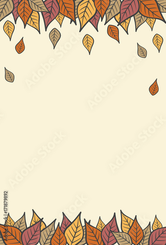 Fall leaves modern. Autumn vertical background buy