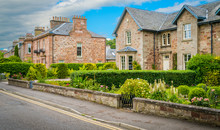 Ness Bank Street In Inverness, Scottish Highlands.