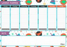 Printable Weekly Planner. Cute...