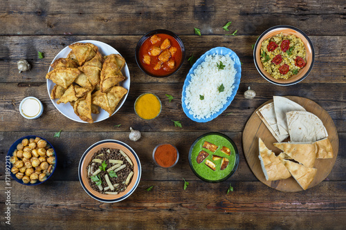 Deurstickers Klaar gerecht Indian food. Indian Cuisine