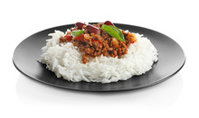 Chili Con Carne Served With Ri...