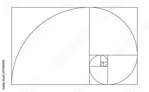 golden ratio template vector illustration fibonacci buy this stock