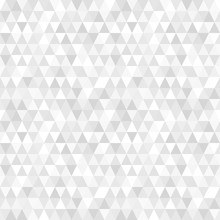 Beautiful Abstract Seamless Background Pattern With Gray Triangles. Vector Image