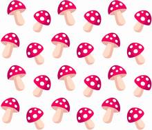 Amanita Mushroom Pattern