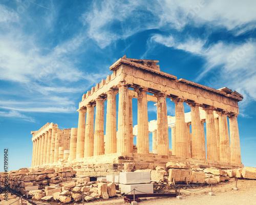 Printed kitchen splashbacks Athens Parthenon temple, the Acropolis in Athens, Greece