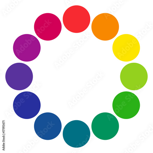 12 Sectioned Rgb Color Wheel With Circles The Complementary Colors