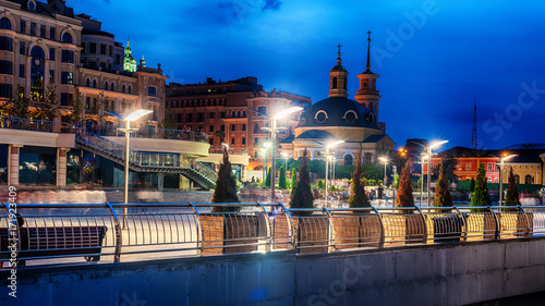 Poster Kiev Kiev or Kiyv, Ukraine: night view of the city center in the summer