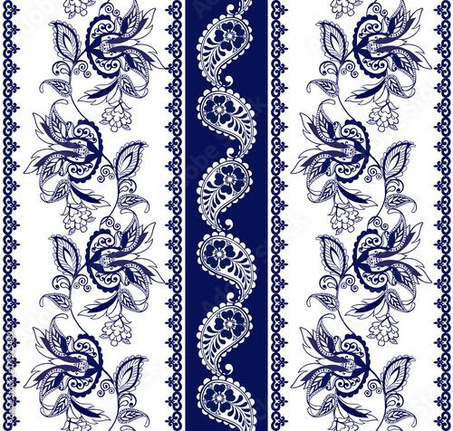 zestaw-koronkowych-czeskich-bezszwowe-granic-paski-z-niebieskimi-motywami-kwiatowymi-tapeta-z-motywem-kwiatowym-dekoracyjny-ornament-do-tkanin-tekstyliow-papieru-do-pakowania
