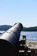 Antike Kanone am Hafen