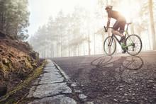 Fahrradfahrer Auf Einer Straß