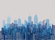 blue trans cityscape windows