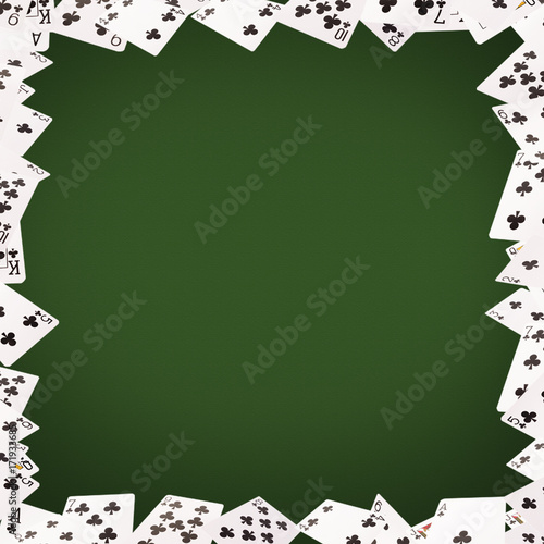 Frame of playing cards on background плакат