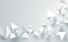 Abstract White 3d Pyramids Cha...