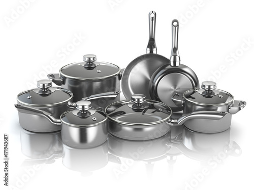Fotomural  Pots and pans