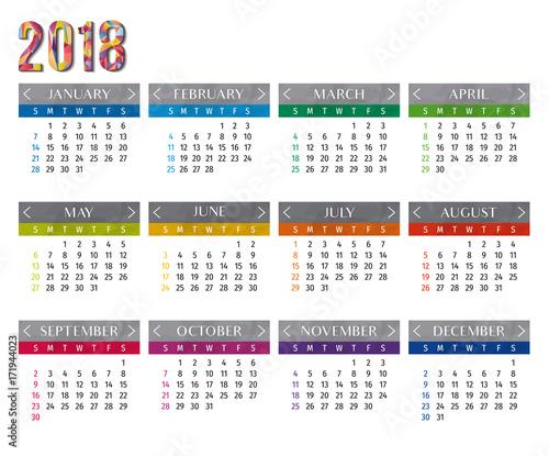 Year Calendar Buy : Year calendar vector template modern