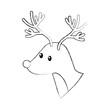 forest deer wildlife animal fauna natural vector illustration