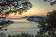 Zachód słońca Adriatyk, Chorwacja, Makarska