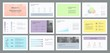 multi-color business presentation template design and page layout design for brochure ,book , magazine,annual report and company profile , with infographic elements graph