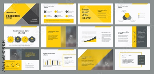 Business Presentation Template Design And Page Layout Design For - Unique company profile presentation template ideas