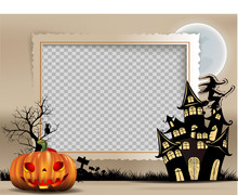 Photo Frame Of Halloween, Hall...