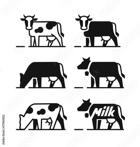 Canvas Dairy cow symbols