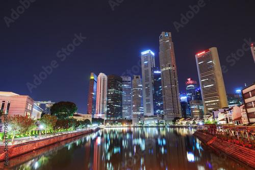 Photo  cityscape of Singapore city, view from Elgin Bridge