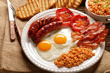 English Breakfast With Sausage...