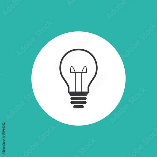 Glühbirne - Icon, Symbol, Piktogramm, Bildmarke, Logo, grafisches ...