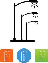 Street Lights Icon - Illustrat...