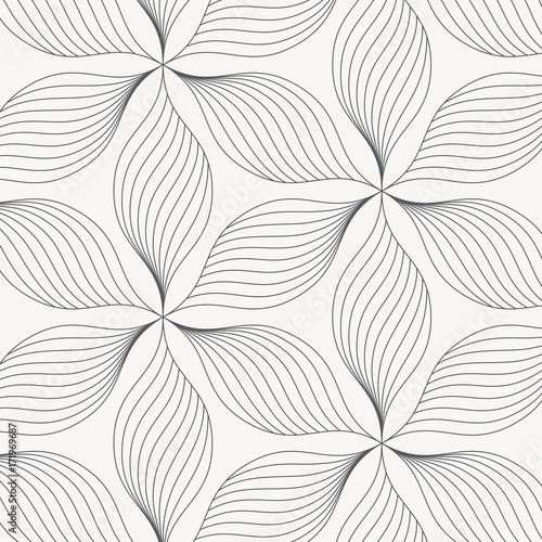 liniowy wektor wzór, powtarzające się abstrakcyjne liście, szara linia liści lub kwiatów, kwiatowy. projekt graficzny czysty tkanina, zdarzenie, tapeta itp. Wzór jest na panelu próbki.