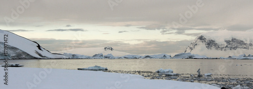 Photo Stunning Antarctica Landscape