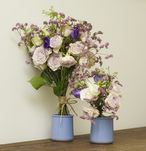 Purple And Pink Flower Bouquet...
