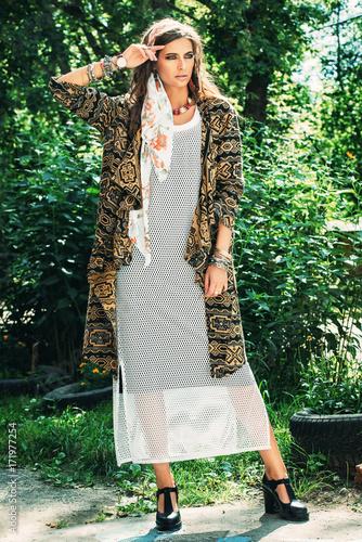Poster Gypsy gypsy style girl